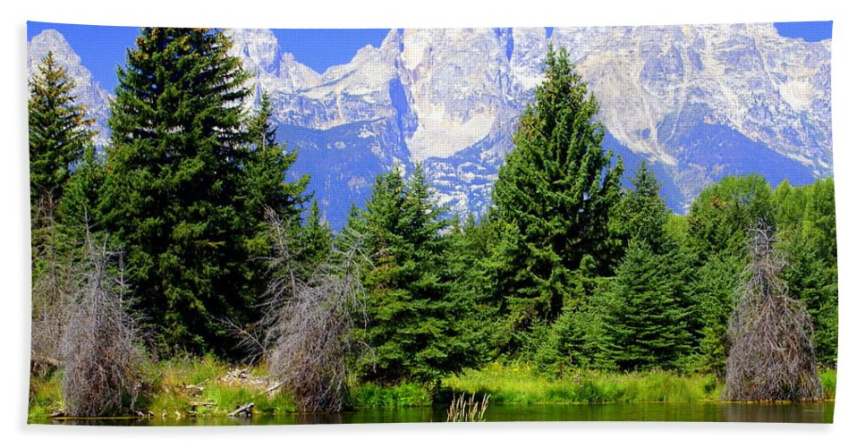 Grand Teton National Park Hand Towel featuring the photograph Tetons 3 by Marty Koch