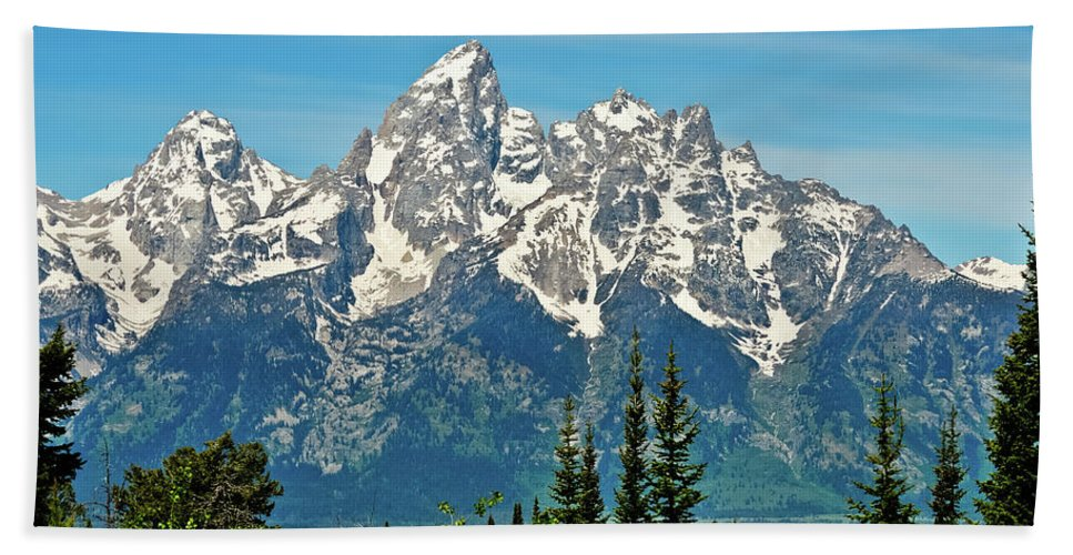 Grand Teton National Park Bath Sheet featuring the photograph Tetons Across The Valley by Greg Norrell