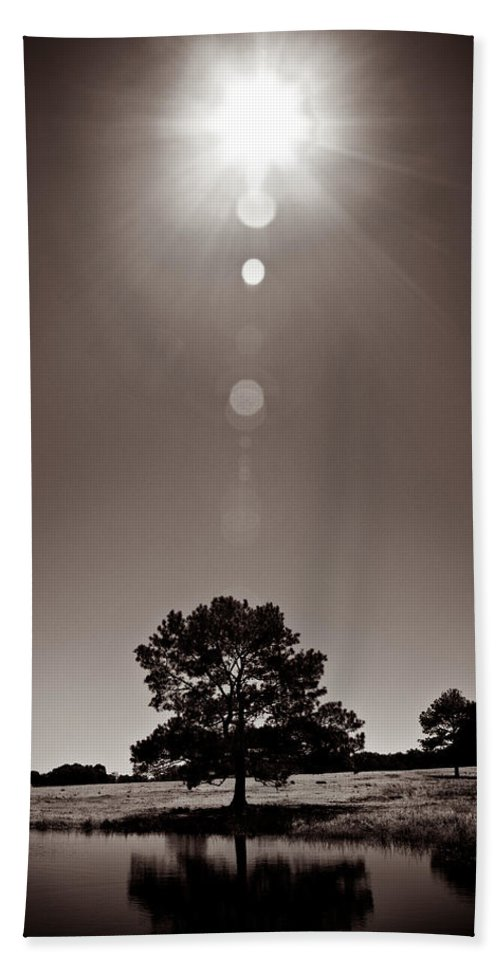 Texas Hand Towel featuring the photograph Texan Sun by Dave Bowman