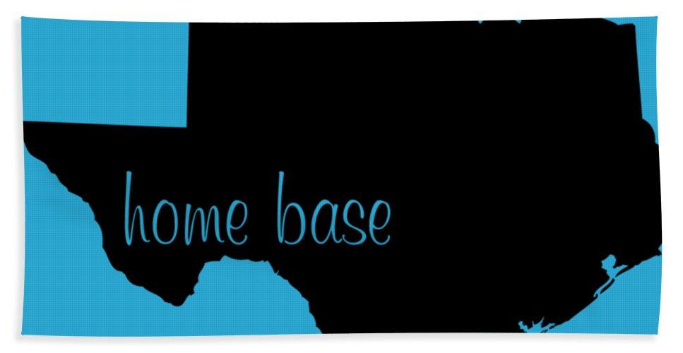 Texas Hand Towel featuring the digital art Texas Is Home Base Black by Custom Home Fashions