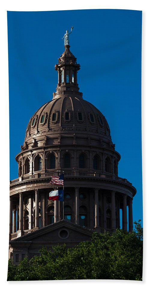 Architecture Hand Towel featuring the photograph Texas State Capitol by Ed Gleichman