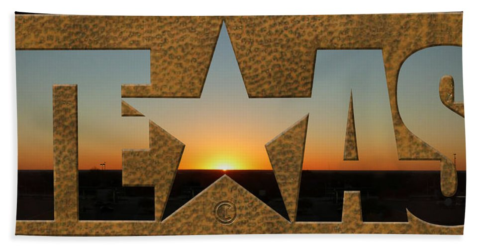 Texas Bath Sheet featuring the photograph Texas Sunrise by Tim Nyberg