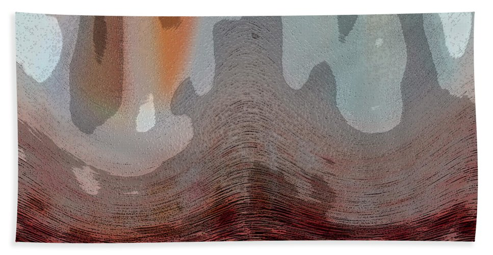 Abstracts Hand Towel featuring the digital art Textured Waves by Linda Sannuti