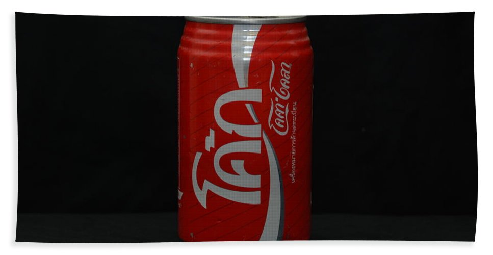White Hand Towel featuring the photograph Thai Coke by Rob Hans
