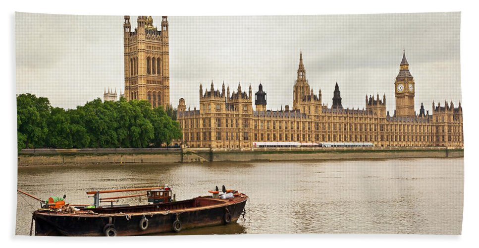 River Bath Sheet featuring the photograph Thames by Keith Armstrong