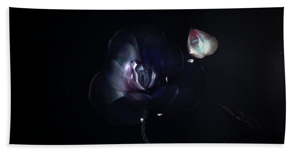 Dreams Bath Sheet featuring the digital art That Flower She Wanted To Be .... by Daniel Arias