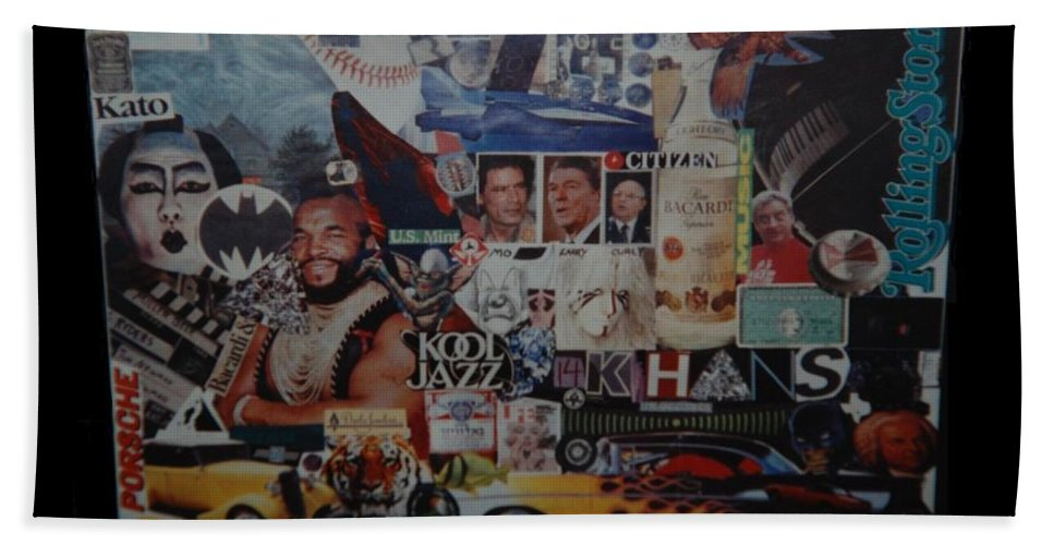 Abstract Bath Sheet featuring the photograph The 80 S Collage by Rob Hans