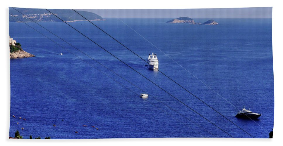 Dubrovnik Hand Towel featuring the photograph The Adriatic Sea by Lance Sheridan-Peel
