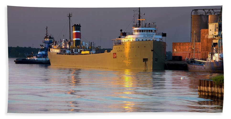 Photography Hand Towel featuring the photograph The Alpena At Rest by Frederic A Reinecke