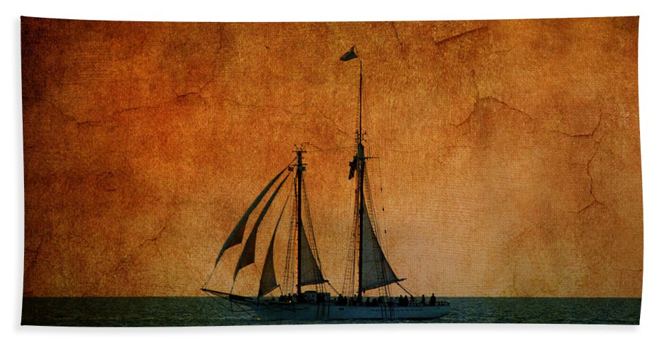 The America Hand Towel featuring the photograph The America In Key West by Susanne Van Hulst