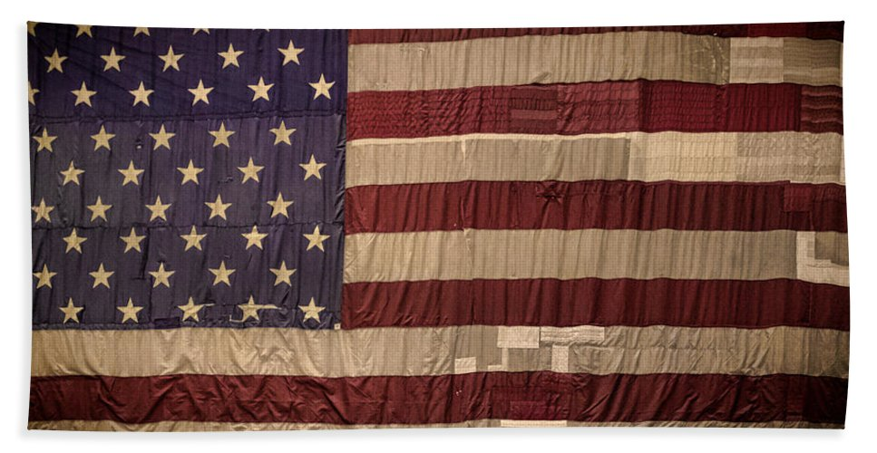Flag Hand Towel featuring the photograph The American Flag by Martin Newman