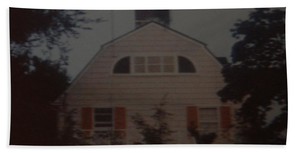 The Amityville Horror Bath Sheet featuring the photograph The Amityville Horror by Rob Hans