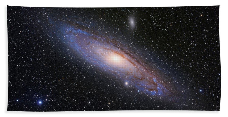 Andromeda Bath Sheet featuring the photograph The Andromeda Galaxy by Martin Heigan