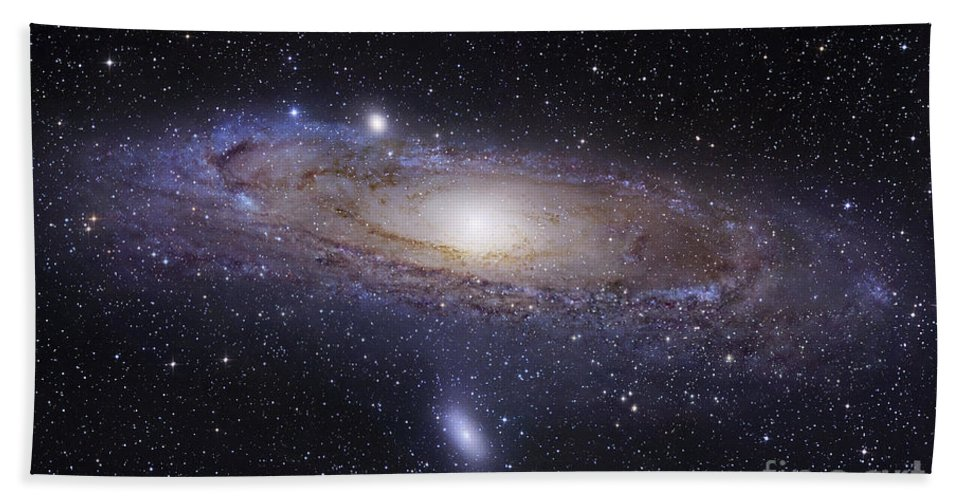 Andromeda Hand Towel featuring the photograph The Andromeda Galaxy by Robert Gendler