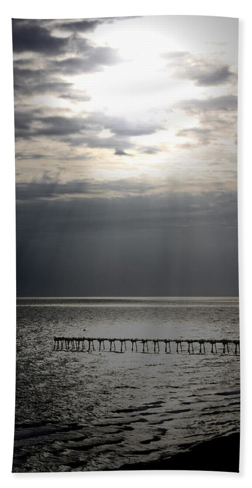 Beach Hand Towel featuring the photograph The Angel Speaks by Tamivision
