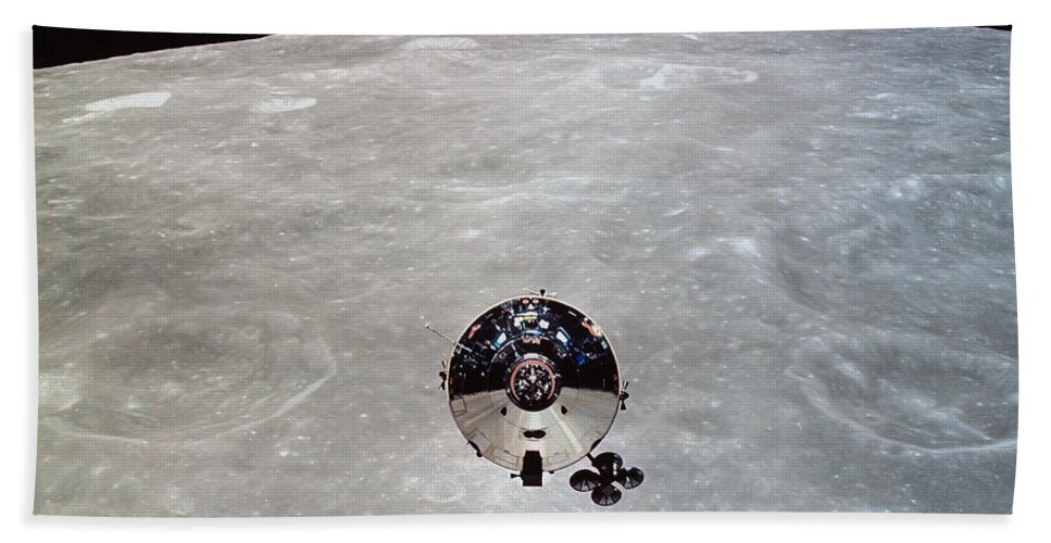 Crater Bath Sheet featuring the photograph The Apollo 10 Command And Service by Stocktrek Images