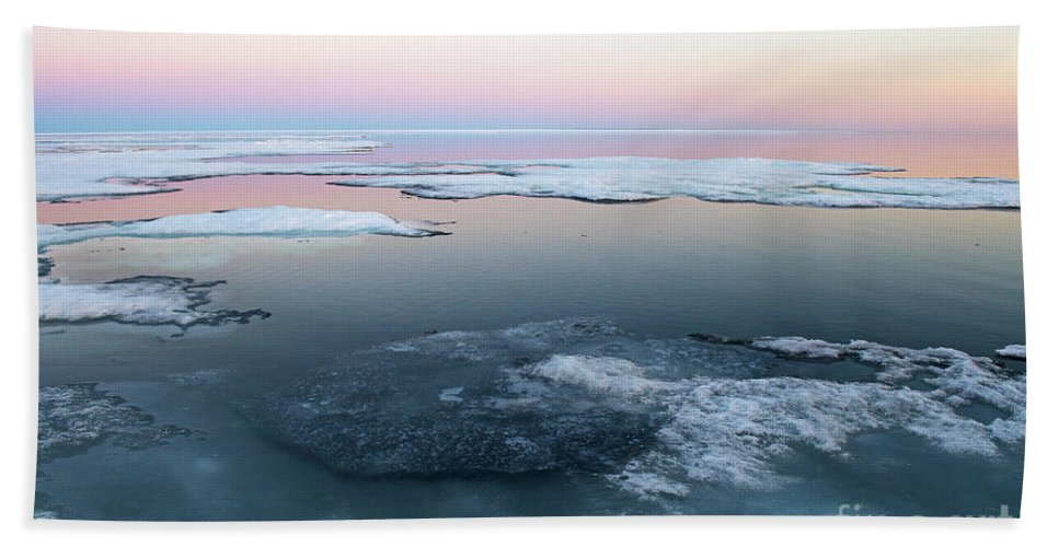 Nina Stavlund Bath Sheet featuring the photograph The Arctic Circle.. by Nina Stavlund