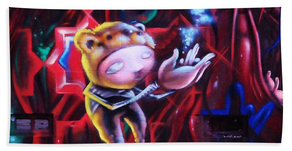 Graffitti Bath Sheet featuring the photograph The Art Of Magic by Kicking Bear Productions