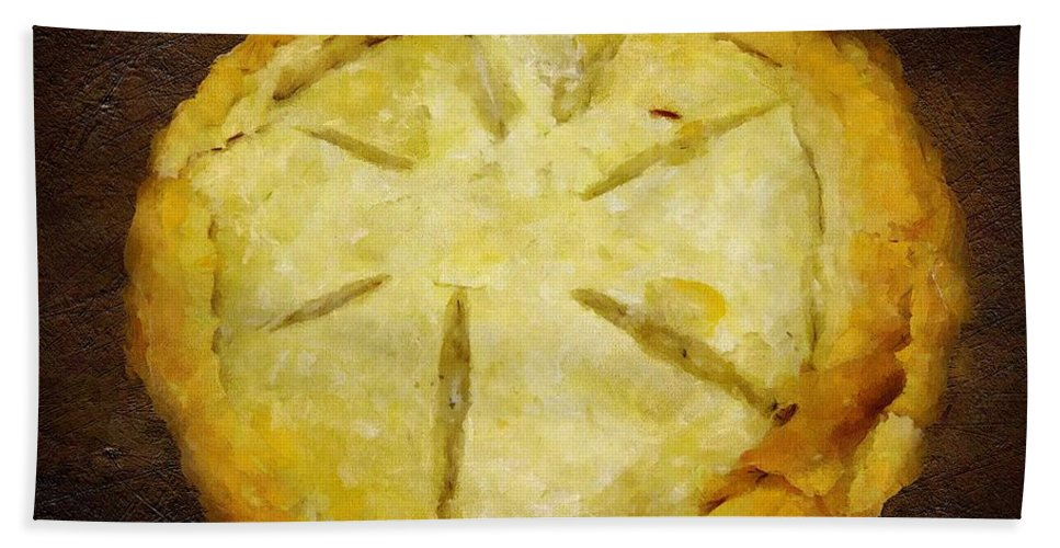 Pie Hand Towel featuring the painting The Art Of The Pie by RC DeWinter