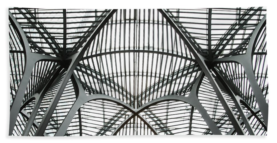 The Hand Towel featuring the photograph The Atrium At Brookfield Place - Toronto Ontario Canada by Bill Cannon