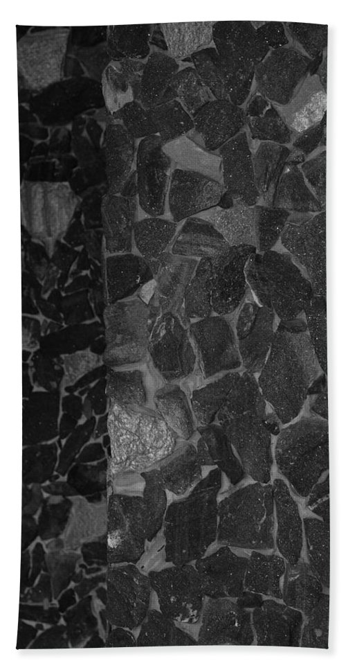 Black And White Hand Towel featuring the photograph The B And W Wall by Rob Hans