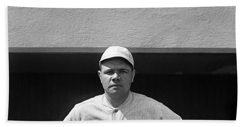 babe Ruth Hand Towel featuring the photograph The Babe - Red Sox by International Images