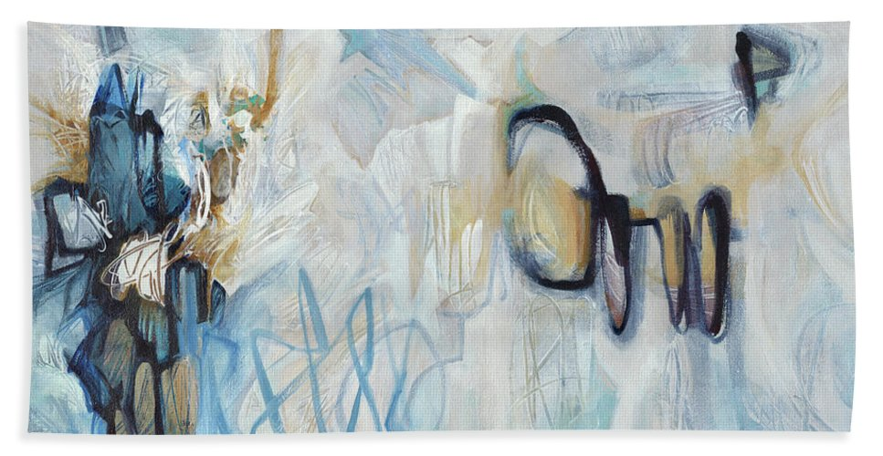 Abstract Bath Sheet featuring the painting The Back Nine by Thyra Moore