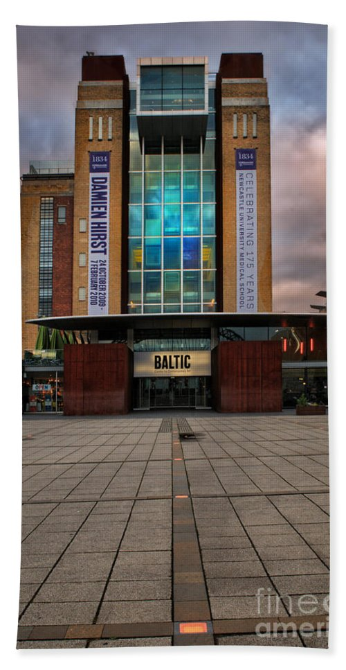 Baltic Gateshead Hand Towel featuring the photograph The Baltic by Smart Aviation