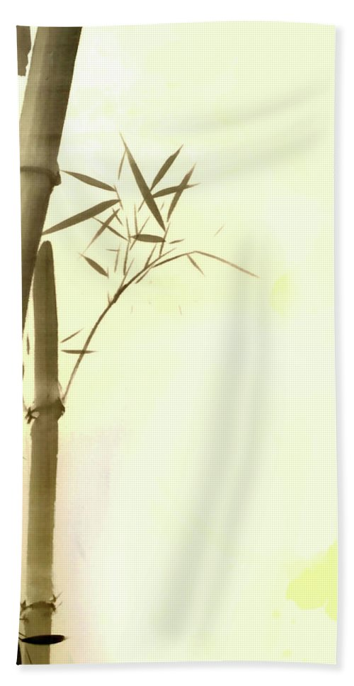 Bamboo Hand Towel featuring the photograph The Bamboo Branch by Mark Rogan