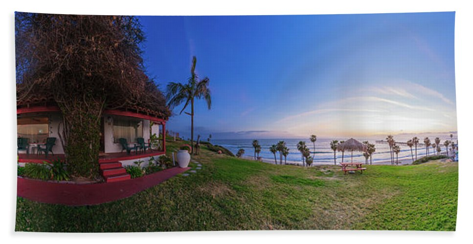 San Clemente Bath Sheet featuring the photograph The Beachombers Views by Scott Campbell