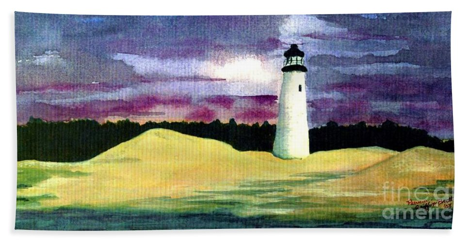Fine Art Hand Towel featuring the painting The Beacon by Patricia Griffin Brett