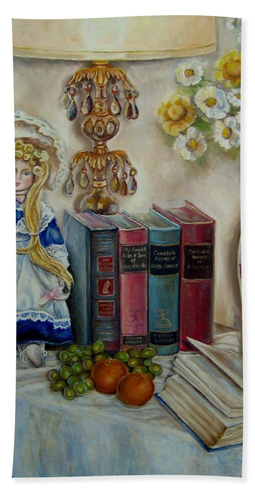 The Beatitudes Hand Towel featuring the painting The Beatitudes by Carole Spandau