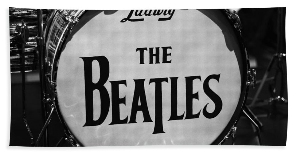 The Beatles Drum Hand Towel featuring the photograph The Beatles Drum by Dan Sproul