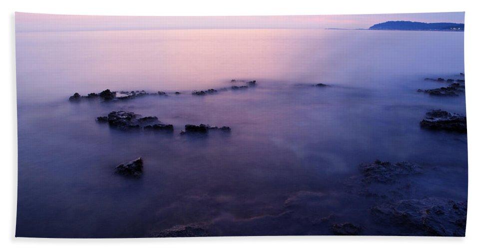 Sea Bath Sheet featuring the photograph The Beautiful Istrian Coastline by Ian Middleton