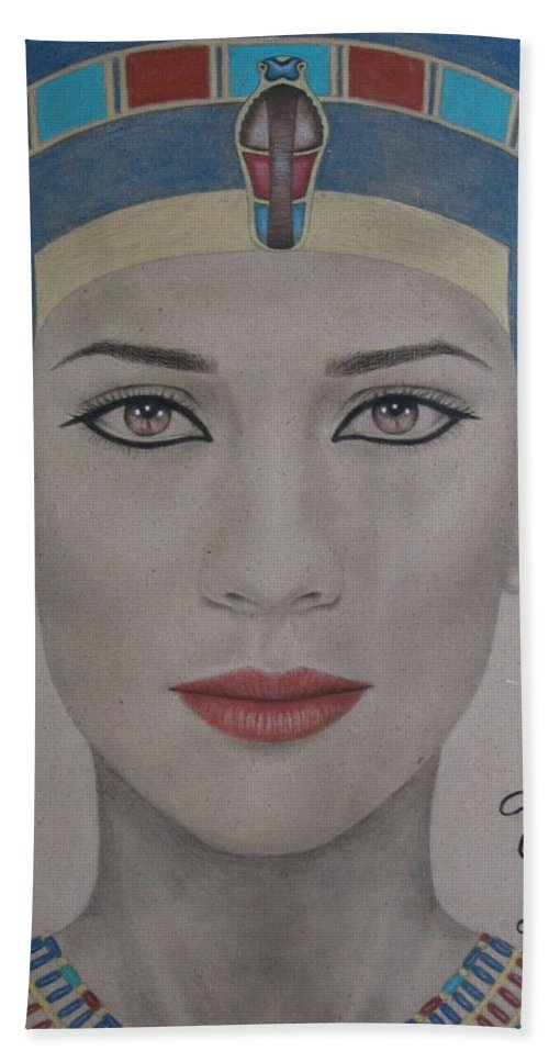 Woman Hand Towel featuring the painting The Beautiful One Has Come by Lynet McDonald