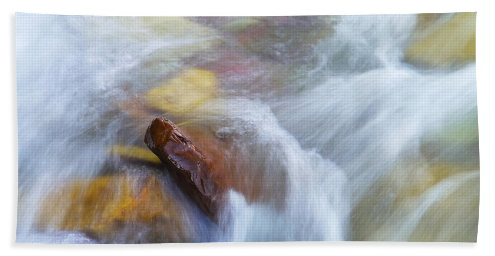 Water Hand Towel featuring the photograph The Beauty Of Silky Water by Jeff Swan
