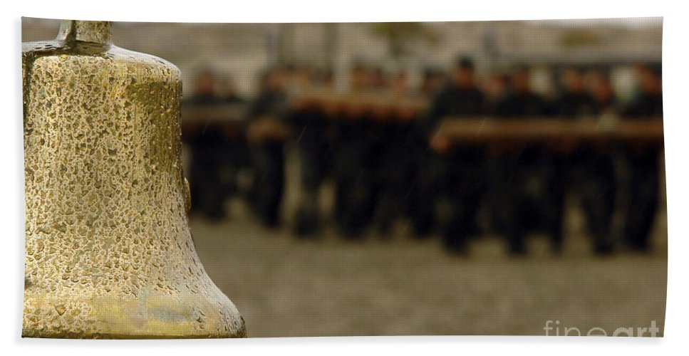 Single Object Hand Towel featuring the photograph The Bell Is Present On The Beach by Stocktrek Images