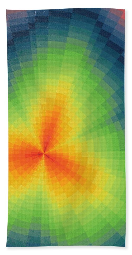 Oil Hand Towel featuring the painting The Big Bang by Peter Antos