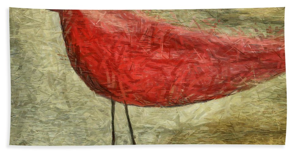 Bird Bath Sheet featuring the mixed media The Bird - Ft06 by Variance Collections
