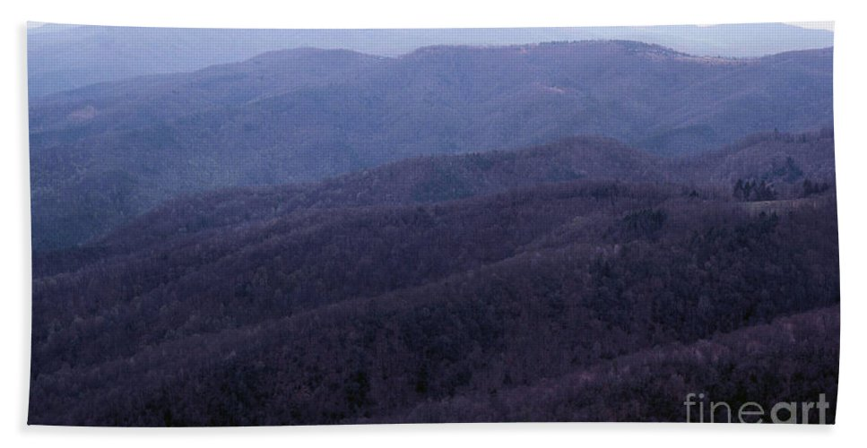 Mountains Hand Towel featuring the photograph The Blue Ridge by Richard Rizzo