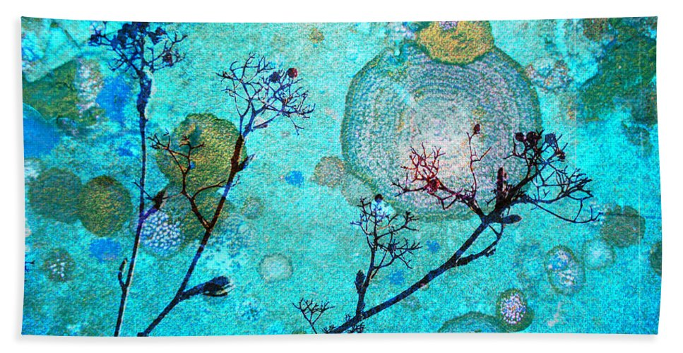 Rust Bath Sheet featuring the photograph The Branches And The Moon by Tara Turner