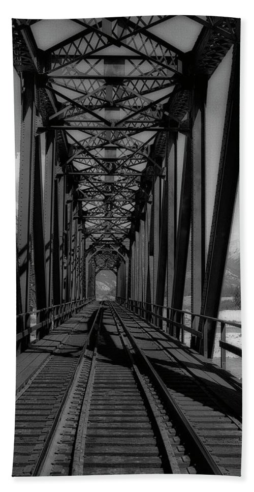 Landscape Bath Sheet featuring the photograph The Bridge At Mile 225 by Keith Vanstone