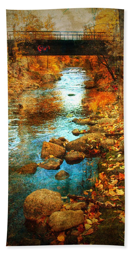 Penticton Hand Towel featuring the photograph The Bridge By Government Street by Tara Turner