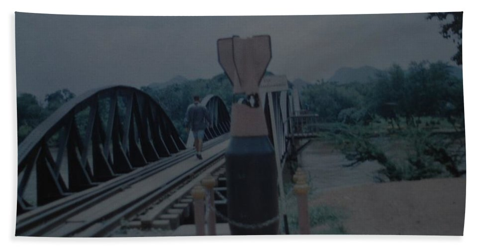 Bridge Bath Towel featuring the photograph The Bridge On The River Kwai by Rob Hans