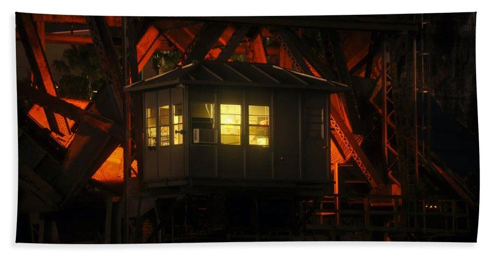Bridge Bath Sheet featuring the photograph The Bridge Tenders House by David Lee Thompson