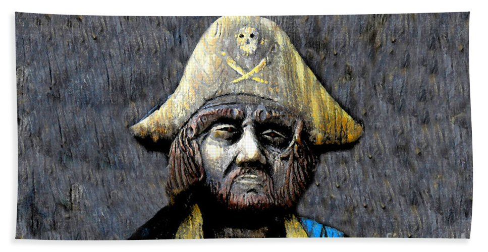 Buccaneer Bath Towel featuring the painting The Buccaneer by David Lee Thompson