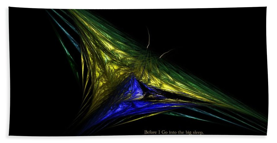 Abstract Digital Painting Hand Towel featuring the digital art The Butterfly Within by David Lane