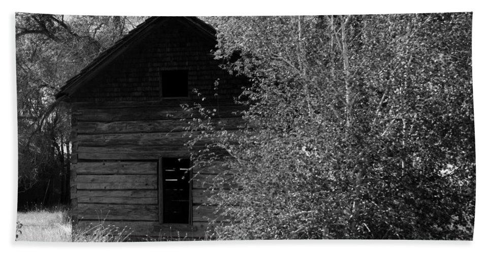 Cabin Bath Sheet featuring the photograph The Cabin by Carol Groenen