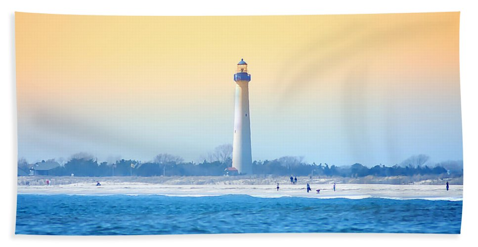 Cape May Bath Sheet featuring the photograph The Cape May Light House by Bill Cannon