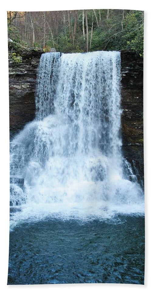 Cascades Hand Towel featuring the photograph The Cascades by Eric Liller